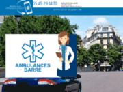 screenshot http://ambulance-barre79.com ambulances barre,entreprise de transport sanitaire