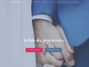 screenshot http://www.ameliste.fr liste de mariage universelle, voyage de noce