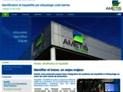screenshot http://www.ametis.eu etiquetage traçabilité codes barres - ametis