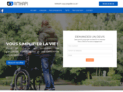 screenshot http://www.amhapi.com aide aux personnes handicapées
