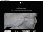 screenshot http://www.amoreau.com artiste sculpteur symbolique sur marbre : aurélie moreau