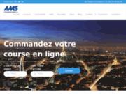 screenshot http://www.amstransport.fr/ Coursier à Paris