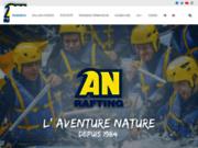 screenshot http://www.an-rafting.com voyage aventure en rafting et kayak sur les plus belles rivières du monde