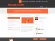 screenshot http://www.angersstockage.fr/ Location de box de rangement et vente de matériel pour le déménagement