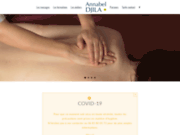 screenshot http://www.annabeldjila.com/ massage assis avignon, marseille