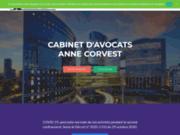 screenshot http://www.annecorvest-avocat.com site du cabinet anne corvest