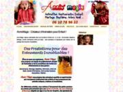 screenshot http://www.anniv-magic.fr Organisation Animation de Goûter d'Anniversaire pour enfant