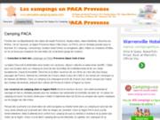 screenshot http://www.annuaire-camping-paca.com camping en provence