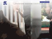 screenshot http://www.apgardiennage.com/ société de gardiennage