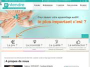 screenshot http://www.appareil-auditif-et-surdite.com centre de l'appareil auditif et de la surdité de l'audioprothésiste entendre à brétigny s/orge.
