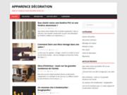screenshot http://www.apparence-decoration.fr/ décoration evenementielle