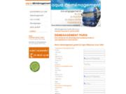 screenshot http://www.aquademenagement.com demenagement paris