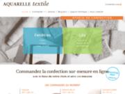 screenshot http://www.aquarelle-textile.com aquarelle textile, votre tapissier décorateur