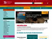 screenshot http://www.archeologia-magazine.com/ revue archéologique