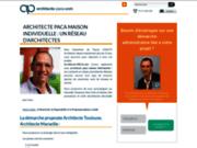 screenshot http://www.architecte-paca.com plan de maison architecte shon shob marseille architecte marseille