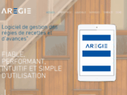 screenshot http://www.aregie.com logiciel de régie d'avances et de recettes