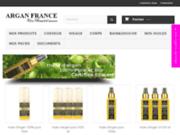 screenshot http://www.arganfrance.fr Négoce des huiles d'argan et de cactus.cosmétique bio à base de ces huiles.