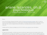 Ariane Lazaridès, Ph.D., psychologue à Montréal