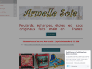 screenshot http://www.armellesoie.com/ armelle soie