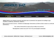 screenshot http://WWW.ARNOLDGAZ.COM entretien depannage chaudiere gaz le puy en velay