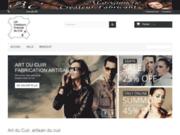 screenshot http://www.art-du-cuir.com art du cuir