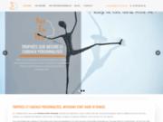 screenshot https://art-en-tete.fr/ Trophées personnalisés et sur mesure