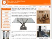 screenshot http://art-fer.fr mobilier en métal et fer forgé