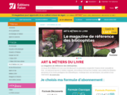 screenshot http://www.art-metiers-du-livre.com/ métiers du livre
