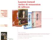 screenshot http://www.art-restauration.ch laurent jornod, restaurateur d'art, restauration de tableaux, suisse