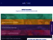 screenshot http://www.artec.fr formation massage, coaching à paris, montpellier