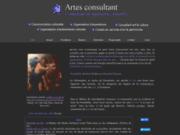screenshot http://www.artesconsultant.fr artes consultant  conseil en oeuvres d'art et organisation d'expositions