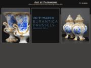screenshot http://www.artetpatrimoine.be/ Art et Patrimoine