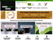 screenshot http://www.artificielles.com spécialiste plantes et fleurs artificielles avec 1500 refs