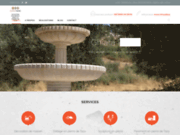 screenshot http://artisan-de-pierres-maroc.com tailleur de pierre