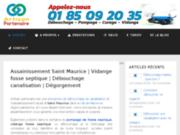 screenshot http://www.artisanpartenaire.fr vidange
