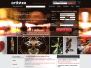 screenshot http://www.artisteo.com artisteo : réseau d'artistes et d'exposants d'art