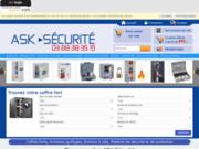 screenshot http://www.ask-securite.com ask-securite  : coffres et matériel de protection