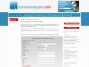 screenshot http://www.assurancesdeparis.com assurances de paris - comparateur assurances