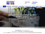 screenshot http://www.astre-energies.fr électricien à anglet, bayonne, biarritz