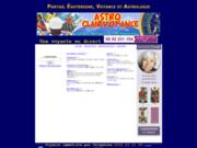 screenshot http://www.astro-clairvoyance.com astro clair voyance, portail ésotérisme