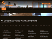 screenshot http://www.at-constructions-07.com construction de maisons BBC en Ardèche 07