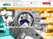 screenshot http://www.atecsarl.com atec sarl spécialiste du serrage industriel