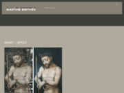 screenshot http://www.atelier-martine-brethes.com restauration de tableaux