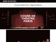 screenshot http://atelier-theatre.fr cours de théâtre