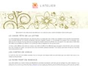 screenshot http://www.atelier81.com cartes de voeux design made in france - atelier 81