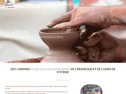 screenshot http://www.ateliercheminsdeterre.com atelier chemins de terres : stages  poterie