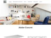 screenshot http://atelierconcret.com aménagements design