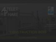screenshot http://www.atelierduphare.fr maison bioclimatique à ossature en bois