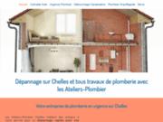 screenshot http://www.ateliers-plombier-chelles.fr/ plombier à Chelles