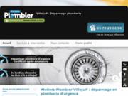 screenshot http://www.ateliers-plombier-villejuif.fr/ plombier à Villejuif